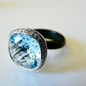 Jewelry - NWOT Rarities: Carol Brodie 5.58ct Blue Topaz Ring